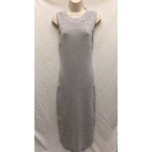 FREE PEOPLE Gray Maxi Sleeveless Sweater Dress M